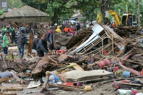 Vlna tsunami v Indonésii