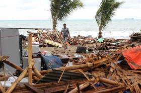 Tsunami v Indonésii, oblast Carita