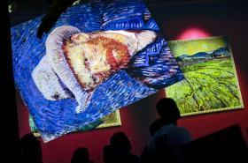 Virtuální projekce děl van Gogha v Bruselu