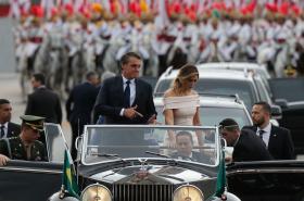 Jair Bolsonaro během inaugurace