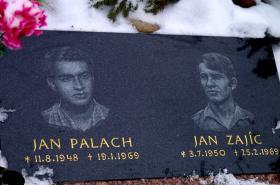 Pamětní deska Jana Palacha a Jana Zajíce