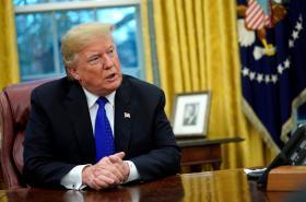 Americký prezident Donald Trump v Oválné pracovně