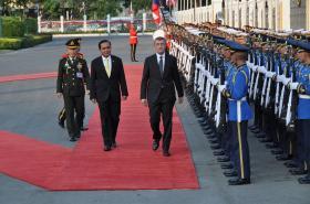 Premiér Andrej Babiš a thajský protějšek Prajutch Čan-Oča