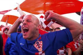 Fotbaloví fanoušci na mistrovství světa ve fotbale v Rusku