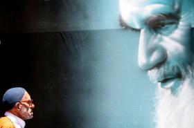 Portrét ajatolláha Chomejního