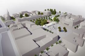 Celkový pohled na náměstí Míru (vizualizace)
