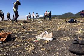 Místo, kde se zřítil boeing etiopských aerolinií