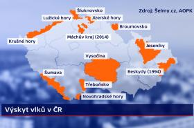 Výskyt vlků v ČR