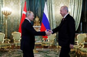 Prezidenti Vladimir Putin a Tayyip Erdogan