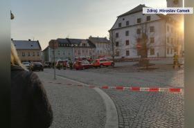 Zásah na rýmařovském náměstí
