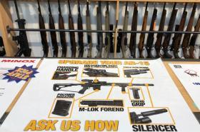 Obchod se zbraněmi v Christchurchi