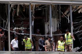 Hotel Šangri La v Kolombu po výbuchu