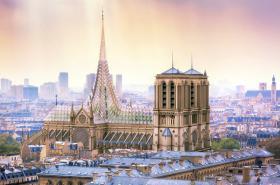 Jeden z návrhů na rekonstrukci katedrály Notre-Dame