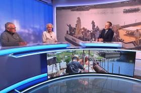 Události, komentáře: Spor o obnovu Mariánského sloupu -  sochař Petr Váňa, religionista Ivan Štampach