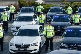 Dálniční policejní auta