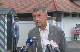Premiér Andrej Babiš po jednání v Lánech