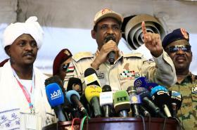 Zástupce šéfa přechodné vojenské rady Mohamed Hamdan Dagalo