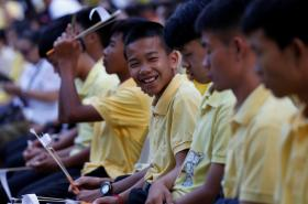 Chlapci z thajské jeskyně