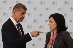 Andrej Babiš a Věra Jourová