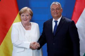 Angela Merkelová a Viktor Orbán v Šoproni