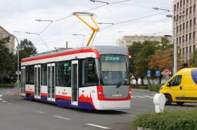 Klimatizovaná tramvaj v Olomouci