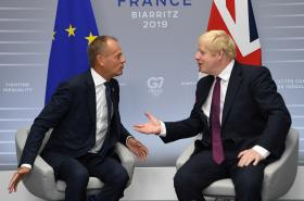 Šéf Evropské rady Donald Tusk a britský premiér Boris Johnson