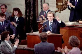 Václav Havel v Kongresu USA