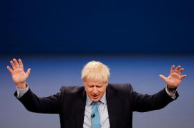 Boris Johnson na sjezdu Konzervativní strany