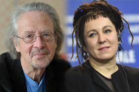 Peter Handke a Olga Tokarczuková