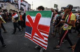 Protest proti vlivu USA a Íránu v Iráku