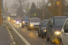 Dopravní komplikace v Jihlavě