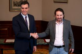 Pedro Sánchez a Pablo Iglesias