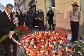 Premiér Andrej Babiš na Národní třídě