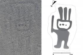 Humanoidní postava na planině Nazca