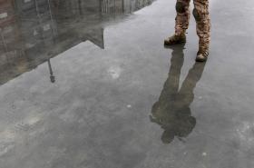 Český voják na základně v Bagrámu