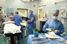 Příprava na operaci v ostravské fakultní nemocnici