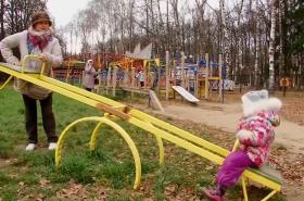 Jedna z dobrovolných babiček v Rusku