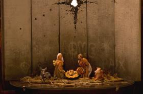 Banksyho jesličky v Betléně