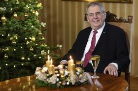 Prezident Miloš Zeman během vánočního projevu