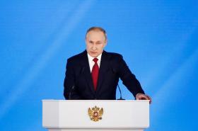 Vladimir Putin při projevu o stavu země