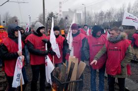 Stávka hornických odborů proti dovozu uhlí