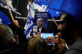 Oslavy ve volebním štábu Likudu