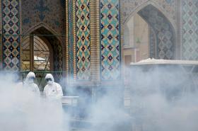 Dezinfekce památek v Íránu