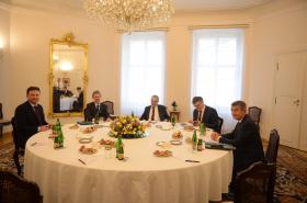 Nejvyšší ústavní činitelé ČR na Pražském hradě