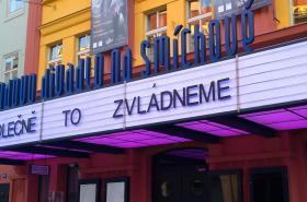 Švandovo divadlo v době uzavření kvůli pandemii COVIDu-19