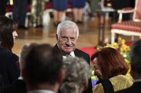 Václav Klaus na snímku z 28. října 2019