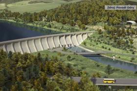 Vizualizace přehrady Nové Heřminovy