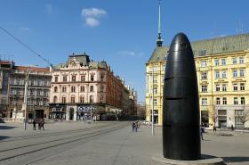 Brněnský časostroj na náměstí Svobody