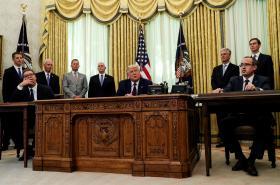 Prezidenti Srbska a USA a premiér Kosova v Bílém domě