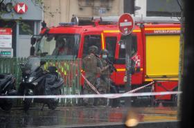 Policejní zásah u bývalého sídla redakce Charlie Hebdo